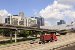 Highway and Houston downtown, Texas Stock Photo