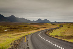 Highway at Iceland Royalty Free Stock Images