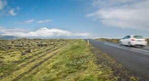 Highway through Iceland Stock Image