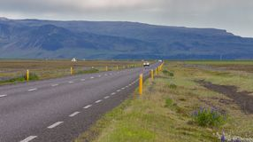 Highway through Iceland Royalty Free Stock Image