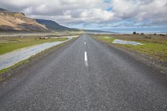 Highway through Iceland Stock Images