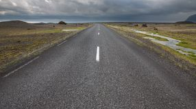 Highway through Iceland Stock Image