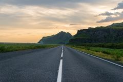 Highway in Iceland stock photography