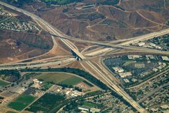 Highway interchange royalty free stock image