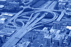 Highway interchange Stock Image