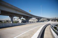 Highway Interchange. Confusing highway Interchange with overpasses Royalty Free Stock Photo