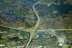 Highway interchange Stock Images
