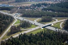 Highway interchange Royalty Free Stock Images