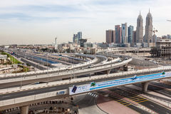 Highway intersection at Dubai Internet City Royalty Free Stock Images