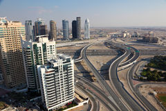 Highway intersection in Dubai Royalty Free Stock Photo