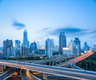 Highway intersection in shanghai Royalty Free Stock Images