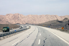 Highway in Iran Royalty Free Stock Photo