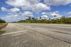 Highway on the island of Cuba Royalty Free Stock Photography
