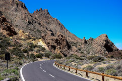 Highway on the island of Tenerife Royalty Free Stock Photography