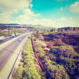 Highway in Israel Stock Photos