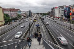 Highway in Istanbul, Turkey royalty free stock photography