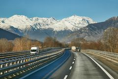 Highway in Italy Stock Images