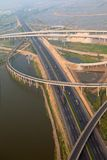 Highway junction, aerial Stock Photography