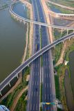 Highway junction, aerial Stock Photos