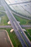 Highway junction, aerial Royalty Free Stock Images