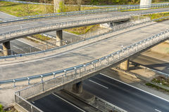 Highway with junction and bridge- rush concept Royalty Free Stock Photography