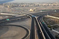 Highway junction in Dubai Stock Photos