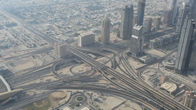 Highway junction in Dubai stock video footage