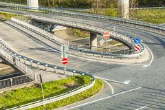 Highway with junction Stock Photo