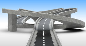 Highway junction, overpass. Royalty Free Stock Images