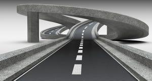 Highway junction, overpass. Stock Images