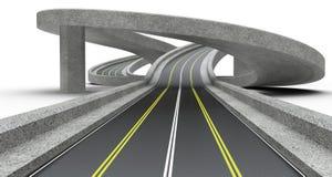 Highway junction, overpass. Stock Photo