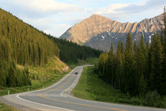 Highway in Kananaskis Country Stock Image