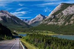 Highway through Kananaskis Country Stock Image
