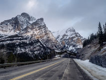 Highway through Kananaskis Country Royalty Free Stock Images