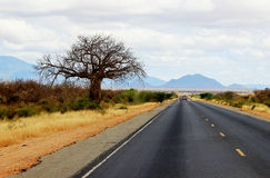 Highway in Kenya Royalty Free Stock Photo