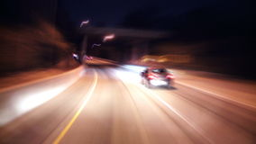 Highway la night timelapse stock video