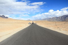 Highway Of Ladakh. Royalty Free Stock Photo