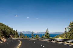 Highway by Lake Tahoe Stock Images