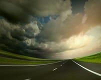 Highway landscape Royalty Free Stock Images
