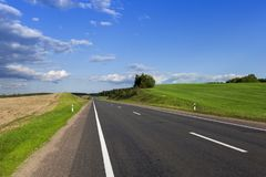 Highway landscape Royalty Free Stock Photos