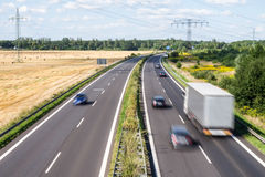 Highway in landscape Royalty Free Stock Images