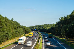 Highway in landscape Royalty Free Stock Photo