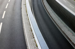 Highway lanes Stock Images
