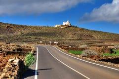 Highway on Lanzarote Stock Image