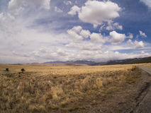 Highway Leading to  Great Sand Dunes National Park Royalty Free Stock Photography