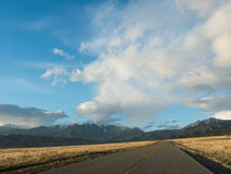 Highway Leading to  Great Sand Dunes National Park Stock Photography