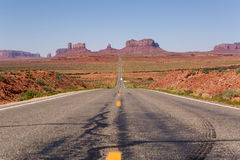 Highway leading towards Monument Valley Stock Image