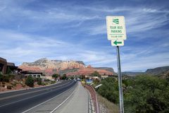 The highway leading into town in Sedona Royalty Free Stock Photo
