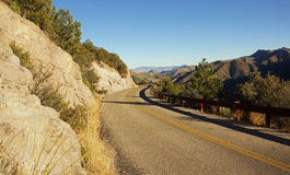 Highway leads into Chiricahua National Monument Stock Image