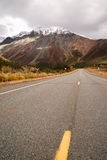 Highway Leads Through Peaks Alaska Range Fall Autumn Season Royalty Free Stock Photo
